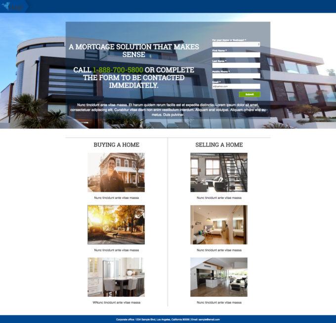 Pardot Real Estate Landing Page Template