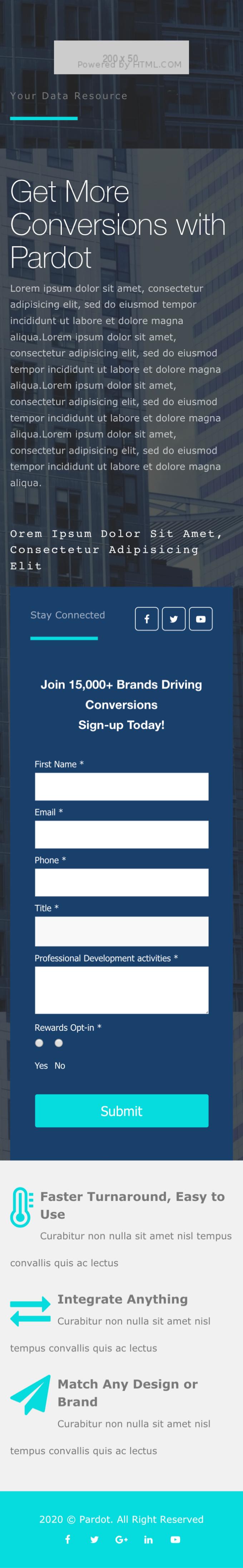 Buy a Pardot Sales Landing Page